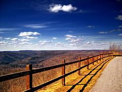 Fenced (Nicholas_T) Tags: sky clouds landscape spring hiking pennsylvania valley cumulus worldsendstatepark appalachianmountains sullivancounty endlessmountains highknob loyalsockstateforest alleghenyplateau hillsgrovetownship
