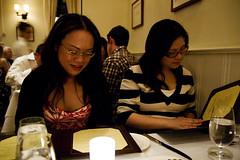 Tina and Helen, deciding!