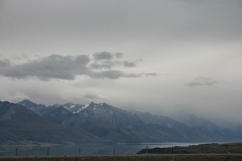 Mountains along Lake Pukaki, NZ.