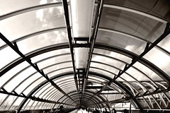 The tube (Capitan Mirino ( il Tartarughino )) Tags: bw italy roma architecture gallery tube bn architettura galleria lazio smrgsbord fieradiroma platinumheartaward