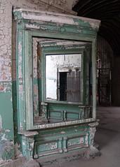 Mirrors (Karol A Olson) Tags: old reflection green philadelphia mirror rust decay nowhere prison crumble peelingpaint esp easternstatepenitentiary