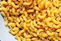 dried, ridged macaroni