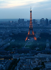 View on Paris: west (Saskya) Tags: sunset paris dusk eiffeltower e3 montparnasse parijs paris08 parijs08