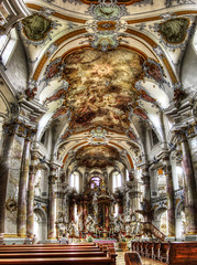 Basilika Vierzehnheiligen / Basilica of the Fourteen Holy Helpers (rawshooter72) Tags: detail church architecture canon is cathedral interior ixus hdr 82 rococo basilika hdri photomatix tonemapped vierzehnheiligen chdk