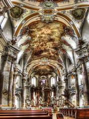 Basilika Vierzehnheiligen / Basilica of the Fourteen Holy Helpers (rawshooter72) Tags: detail church architecture canon is cathedral interior ixus hdr 82 rococo basilika hdri photomatix tonemapped vierzehnheiligen chdk