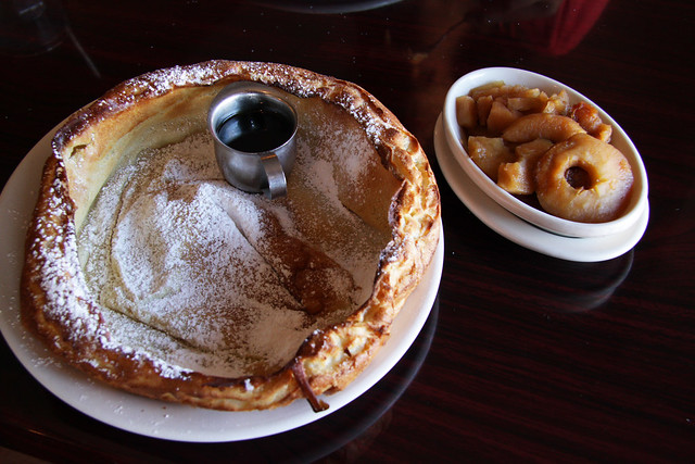 Dutch Baby pancake with apples.