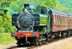 GWR Pannier Tank Locomotive No 4612 arriving at Gotherington (KPAR Media UK) Tags: uk trees england heritage train canon tank engine rail railway loco gloucestershire steam locomotive gwr pannier 500d gotherington 4612 uksteam gwr175
