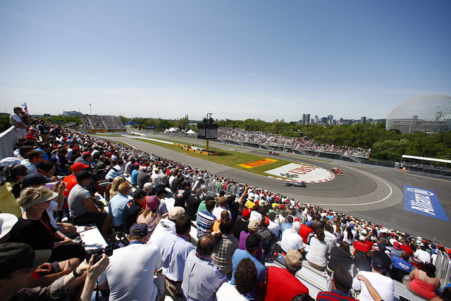 A view from the grandstand, Canadian F1 GP