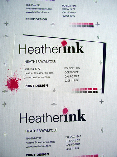 Heather Ink business cards