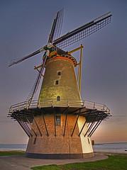 Windmill Front(ish) (frogdog*) Tags: holland windmill nederland zeeland netherland vlissingen flushing cs3 3exp pshdr pscla aplusphoto