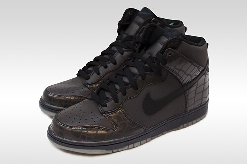 "Nike Dunk High ""Black Reflective Crocodile"""