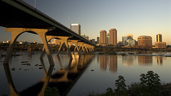 Richmond, Virginia (Ansel Olson) Tags: city sunset urban reflection skyline architecture buildings landscape manchester virginia nikon downtown wideangle richmond financialdistrict southern va thesouth d200 169 dixie richmondva richmondvirginia rva jamesriver floodwall federalreserve fallline route60 manchesterbridge 1735mmf28 richmondcity capitalofthesouth