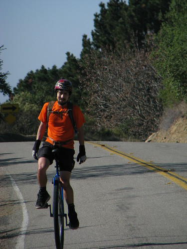 Kevin at the peak on Redwood