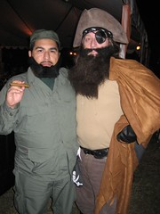 Fidel and Coffee Matey at the Muckenthaler Moonlight Masquerade. (10/28/07)