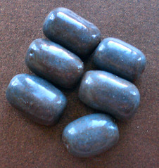 Steel Grey Handmade Ceramic Beads