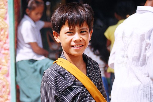 A Khmer pagoda boy