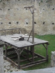 Gallows in Khotyn fortress /photo by Viktor/