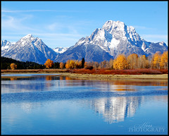 Autumn Reflections (StarfireRayne) Tags: park blue autumn trees mountain lake reflection fall river landscape bend snake grand national yellowstone wyoming teton tetons moran oxbow amazingtalent abigfave diamondclassphotographer