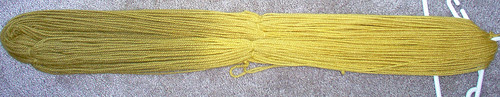 finished marigold skein