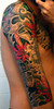 Back of taino tattoo Completed Taino Sleeve