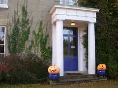 Front door with pumpkins, Halloween 2006