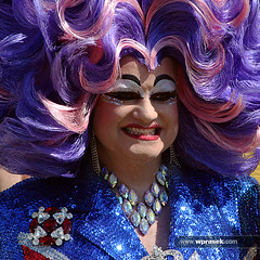 Nightmare in drag (wprasek) Tags: uk blue gay england fashion hair sussex costume clothing brighton purple crossdressing clothes wig transvestite nightmare homosexual dragqueen queer fancydress crossdresser apparel headdress headgear attire foliocandid gayprideparadeparty masqueradecostume warrenprasek xoodu wprasek wwwxooducom wwwwprasekcom