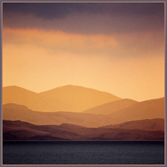 Distance (Katarina 2353) Tags: morning pink sea orange mist mountain mountains film water fog analog landscape photography nikon flickr image paisaje greece albania paysage corfu priroda grece tjkp nikonf401s albanija rodhos pejza katarinastefanovic katarina2353