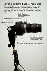Cookie Gun Explained (Airchinapilot) Tags: diy projector flash gizmo gobo strobe skyport sunpak strobist cookiegun airchinapilot sunpak36dx