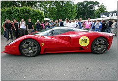 Ferrari P4/5 by Pininfarina Supercar. Goodwood Festival of Speed 2007. (Antsphoto) Tags: classic car festival racecar speed one rondeau am indy grand can f1 ferrari racing historic renault prix mclaren formula sauber a1 morgan bugatti canoneos350d fos supercar bonneville goodwood gp motorsport racingcar pininfarina spyker motoracing goodwoodfestivalofspeed goodwoodhouse ferrarip45 worldcars ferrarip45pininfarina