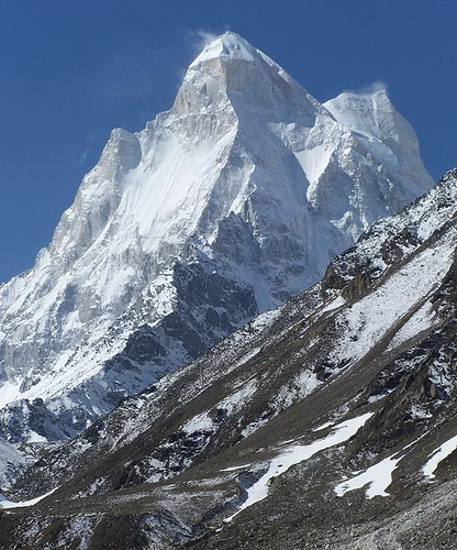 Shivaling Peak above above Gangotri and Gomukh Glaciers