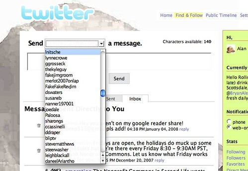 A D- For Twitter Interface Design