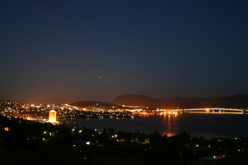 Night time over Hobart...