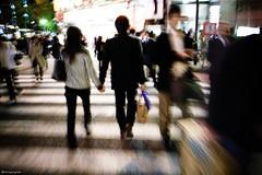 hand in hand (Solar ikon) Tags: street motion blur japan night digital tokyo 28mm gr ricoh