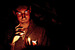 Loki. (Lebeg) Tags: blue red portrait black photoshop dark fire darkness blind god blu joke madness loki dio sandman autoritratto rosso scherzo fuoco riddle neilgaiman buio seflportrait fenrir mitologia oscurit pazzia cieco logi kindlyones cugio tranello lebeg proudshopper proudlychopped mitologiaprettamentepersonale eumedini miiiiiicomepaiocattivo misentodemoniacoabbestia comeispiraresessonellephye