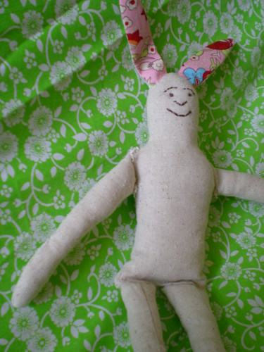 purl bunny - wip