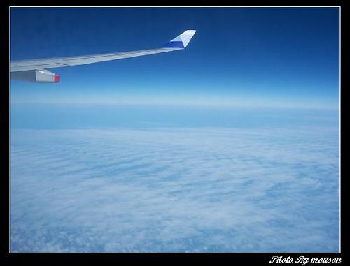 台北飛香港的飛機上