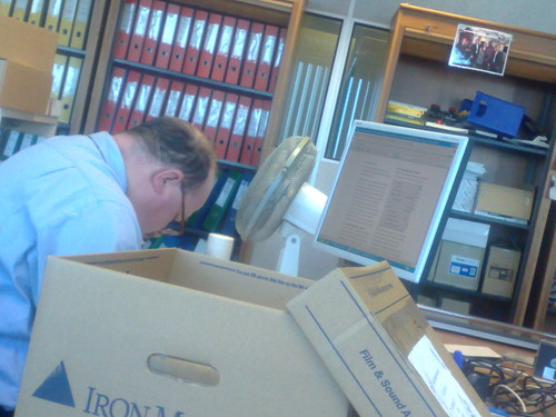 Guy at work asleep