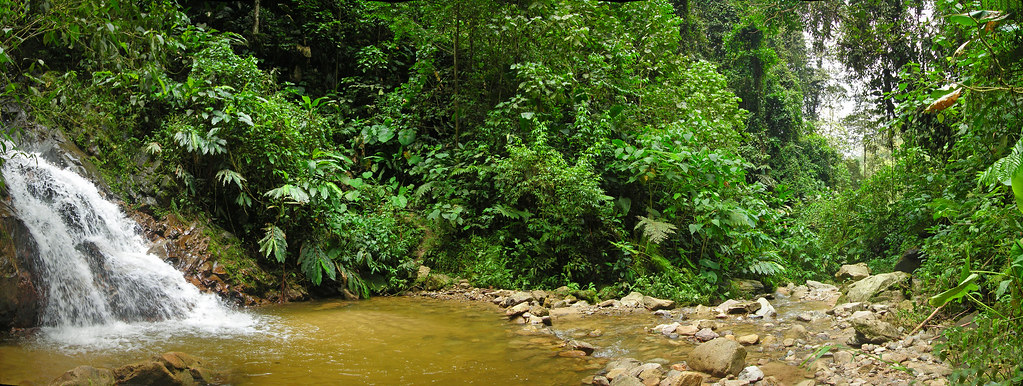 Cascada cerca de Floridablanca, Colombia