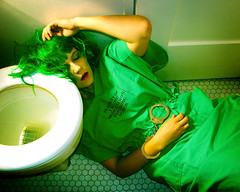 Day 404 (evaxebra) Tags: holiday selfportrait green saint drunk psychiatry bathroom insane crazy eva day patrick toilet hungover guinness wig 365 flush sick handcuffs arrest psychiatric jameson ewa lacountyhospital saintpatricksday march17 cwd psychiatricward lacusc xebra 365days evaxebra pruska saintpaddysday losangelescountyhospital cwdrs cwdweek60 cwd603 cwdrs60 ewapruska