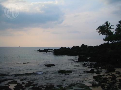 sunset on turtle beach
