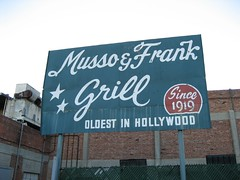 Musso & Frank's sign in the back. (02/27/2008)