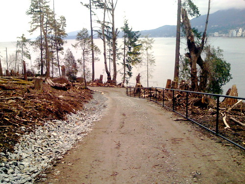 Siwash Rock trail is unrecognizable