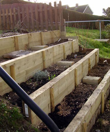 how to build garden steps on a slope