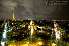 On the Hour (photo.klick) Tags: road street paris france clouds lights eiffeltower photoblog nighttime toureiffel avenue nuit etoile victorhugo gustave kleber dlena tc096 tc103 katsingercom