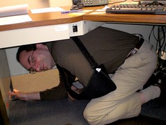 Mark in Earthquake Drill 2008
