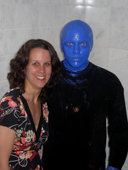 Vegas Trip, Day 3: gettings photos taken with Blue Man Group