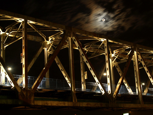 Full moon and the Junction Bridge