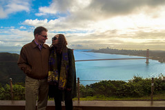 Mom and Dad (kirstenscamera) Tags: mom dad parents sanfrancisco california outdoors outside marinheadlands sausalito sky ca couple love happiness sf norcal goldengatebridge city urban overlook morning winter2017 bridge bluesky clouds happy