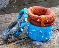 felt bracelets (Lucie Filipsk) Tags: wool felting bracelet bangle