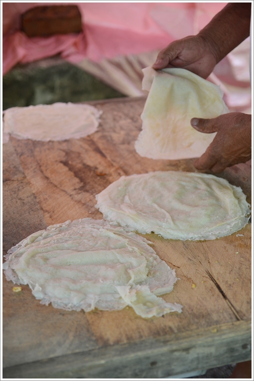 Fresh, Steamed Popiah Skin